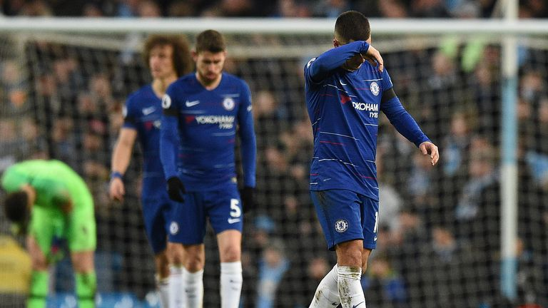 Sarri's job on line as Man City hit humiliated Chelsea for six