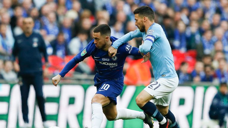 Eden Hazard was ruled out for offside during the Carabao Cup final, but was it the right decision?