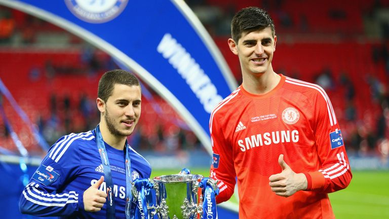 Hazard could join up with former Chelsea team-mate Courtois at Real Madrid this summer