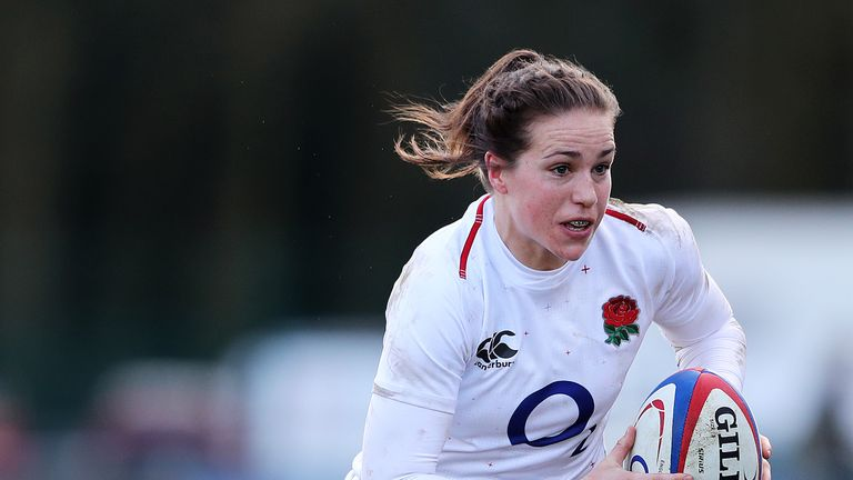 Emily Scarratt will win her 80th cap when she comes off the bench against Canada