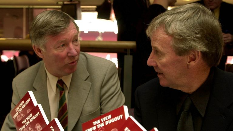 Eric Harrison (right) worked under Sir Alex Ferguson at Manchester United