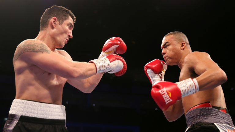 Fabio Wardley had too much firepower for his French opponent