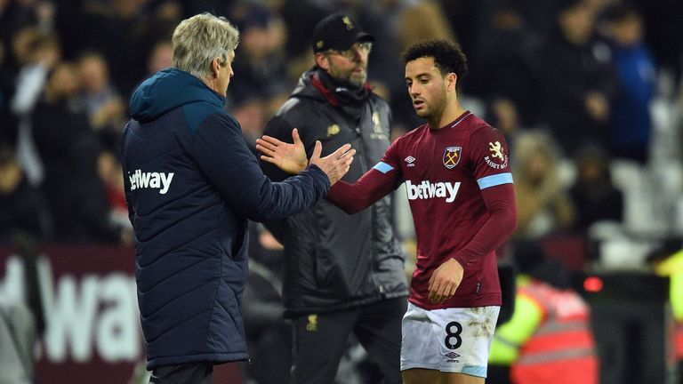 Felipe Anderson took the pressure off West Ham's defence with his dribbling