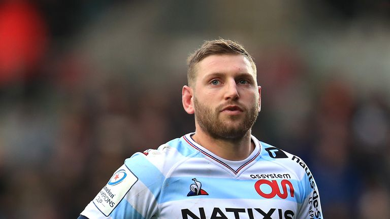 Finn Russell was forced off just before the interval after a collision with Lucas Tauzin
