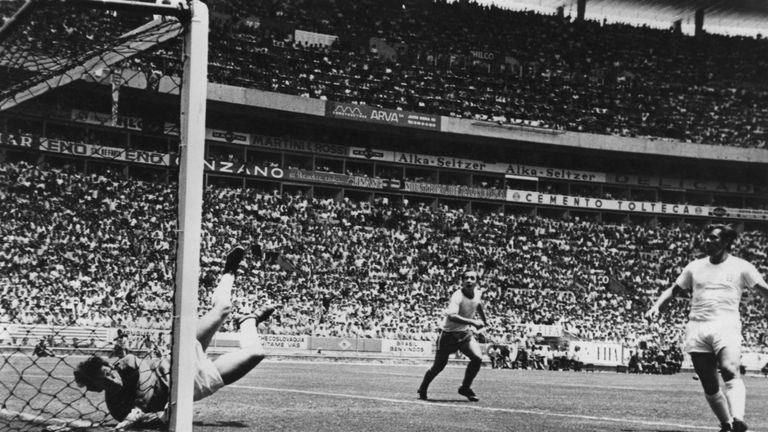 Gordon Banks' famous save to deny Pele at the 1970 World Cup