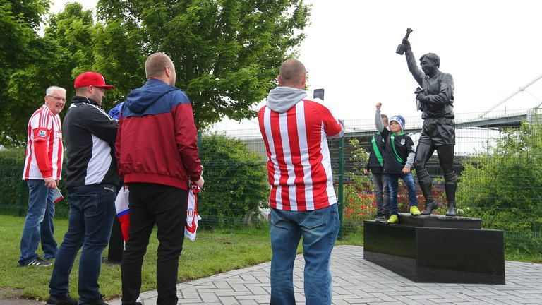 Banks has a statue outside Stoke's stadium
