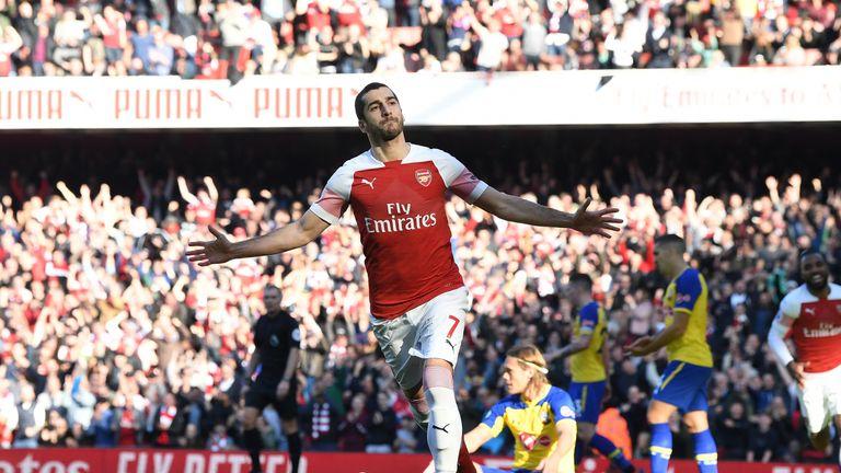 Henrikh Mkhitaryan's goal was his third against Southampton this season