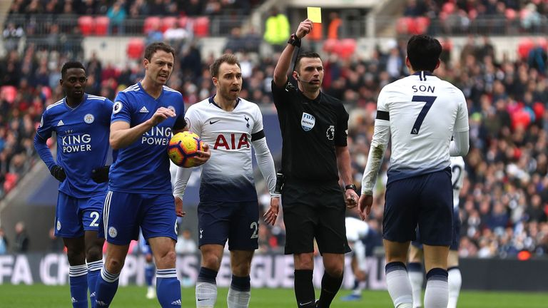 Heung-Min Son was incorrectly booked for simulation on Sunday, according to Dermot Gallagher