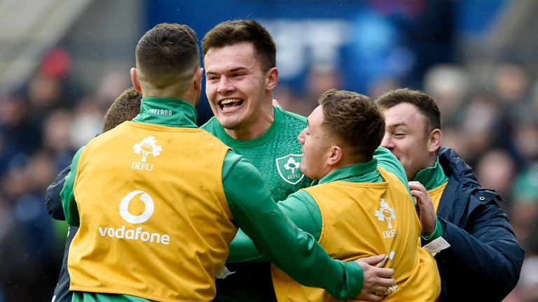 Jacob Stockdale was among the try scorers as Ireland won at Murrayfield