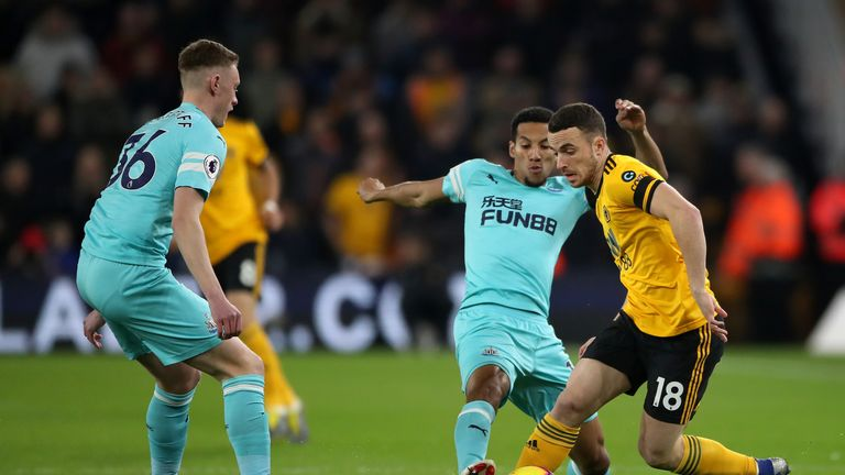 Newcastle were forced to settle for a point at Molineux on Monday