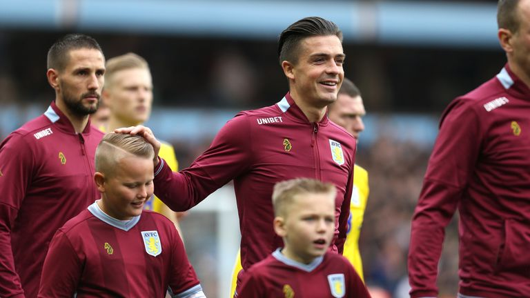 Jack Grealish signed a five-year contract at Aston Villa last September