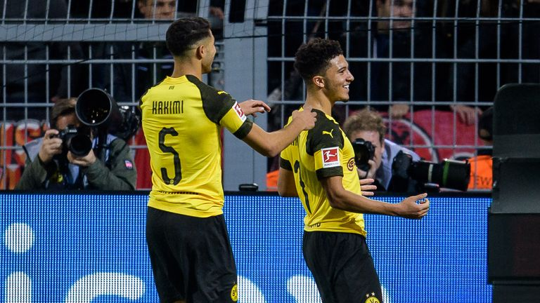 Jadon Sancho has 22 goal contributions in 23 starts for Dortmund
