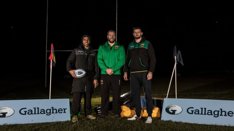 Northampton trio Ken Pisi, James Haskell and Tom Wood were representing Saints at the session this week