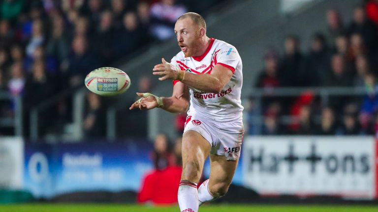 James Roby in action for St Helens