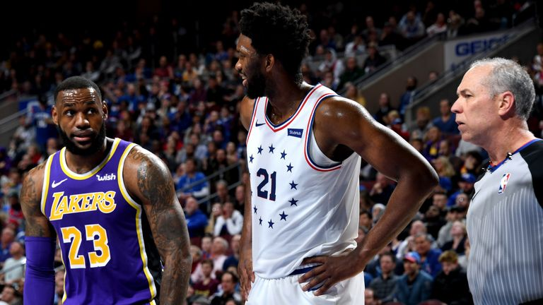 LeBron James was forced to play second fiddle to Joel Embiid on Sunday night