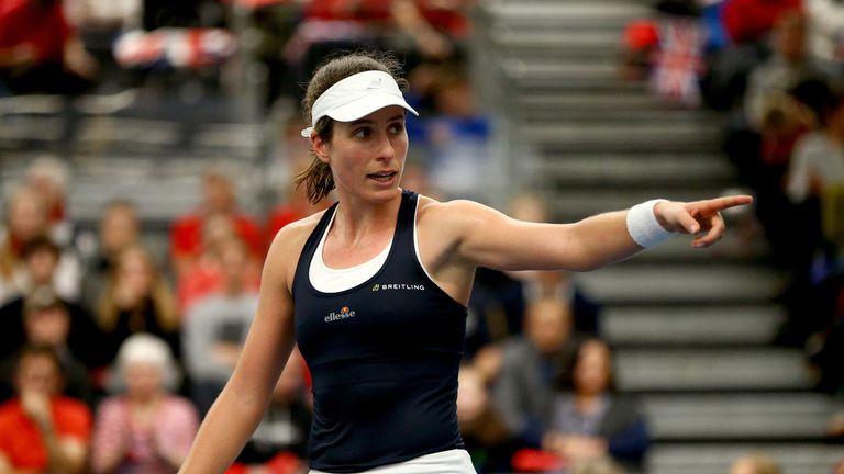 Johanna Konta led GB's Fed Cup charge