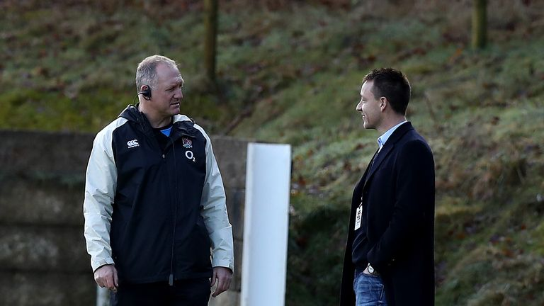John Terry (right) chats to former England international Richard Hill