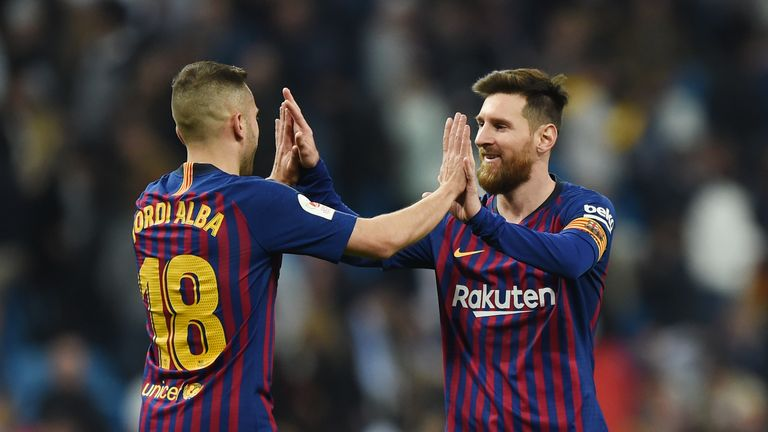 Alba has given a total of 20 assists to Lionel Messi - the most of any player - since they started playing together