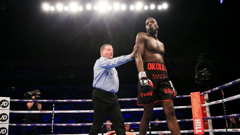 The Hackney man forced the stoppage in the third round