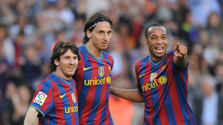 Lionel Messi, Zlatan Ibrahimovic and Thierry Henry starred for Barcelona in Guardiola's second season in charge