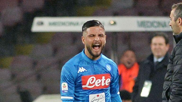 Lorenzo Insigne scored for Napoli on Saturday