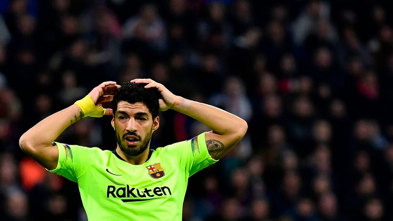 Luis Suarez has struggled for goals recently with Barcelona