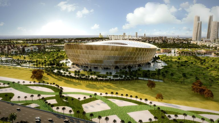 Artist's impression of Lusail Stadium, which will host the 2022 World Cup final