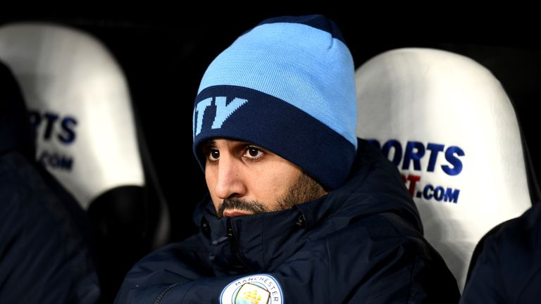 Riyad Mahrez has not started a Premier League for City this year