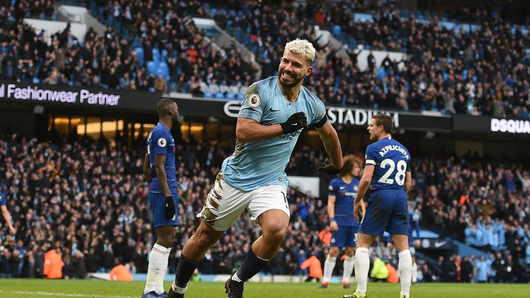 Sergio Aguero scored a hat-trick against Chelsea