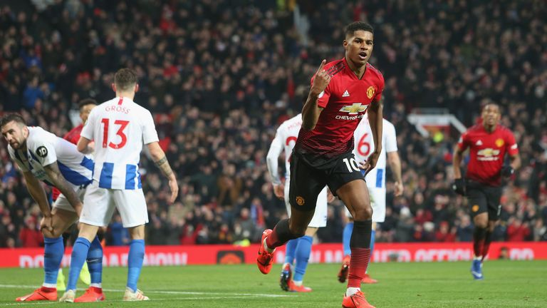 Marcus Rashford has scored six league goals since Solskjaer's arrival