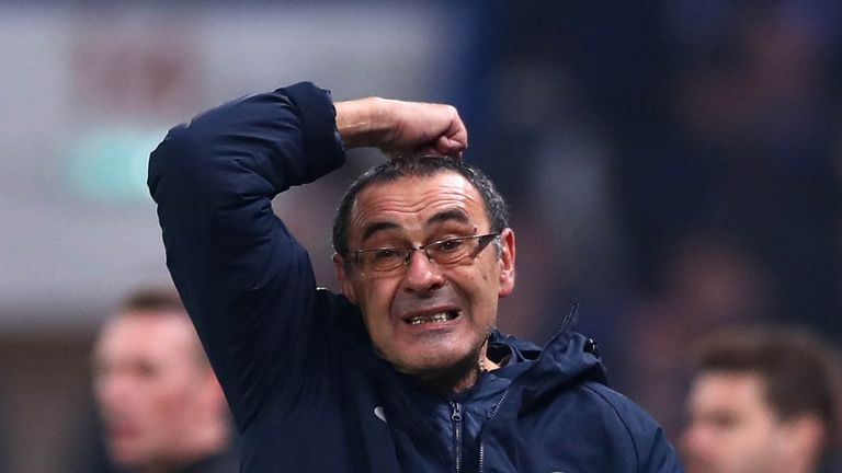 Maurizio Sarri believes he is not under the kind of pressure people have suggested