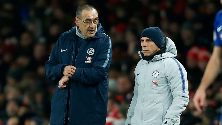 Gianfranco Zola insists Maurizio Sarri is trying to build an 'ambitious' way of playing at Chelsea