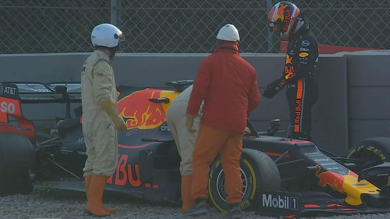 Not an ideal end to the day for Pierre Gasly in the Red Bull