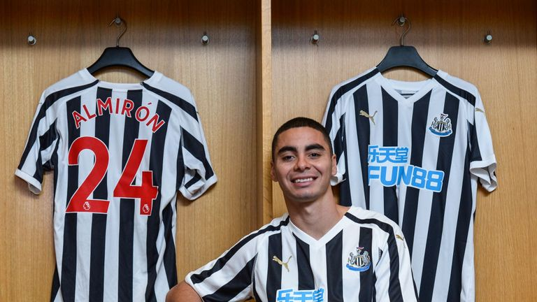 Miguel Almiron: Newcastle signing says record fee is 'an honour'