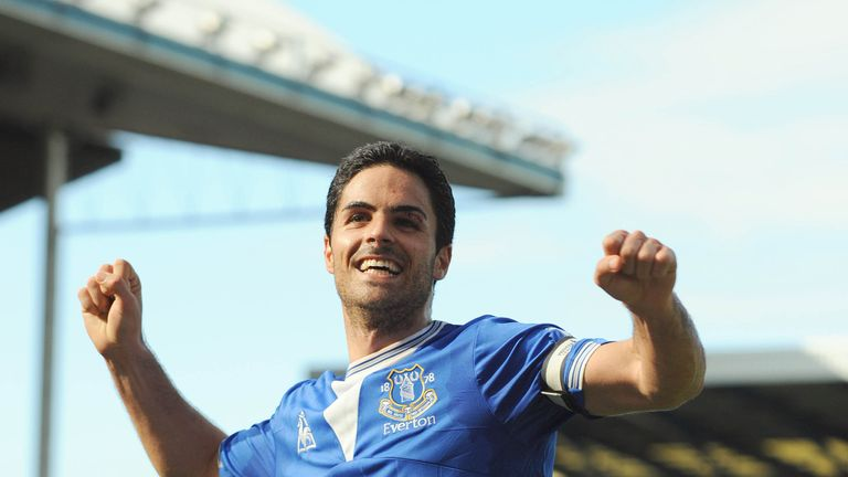 Arteta played for Everton between 2005 and 2011