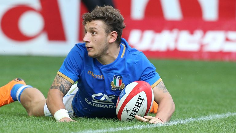 Matteo Minozzi starts for Italy at full-back vs England