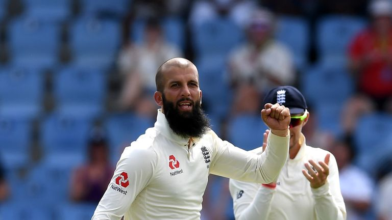 Moeen Ali finished as England's leading wicket-taker for the second series running