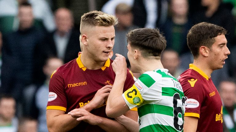 Motherwell's James Scott caused controversy earlier this season after they scored from a throw in Celtic believed would be played back to them following an injury to Ryan Christie