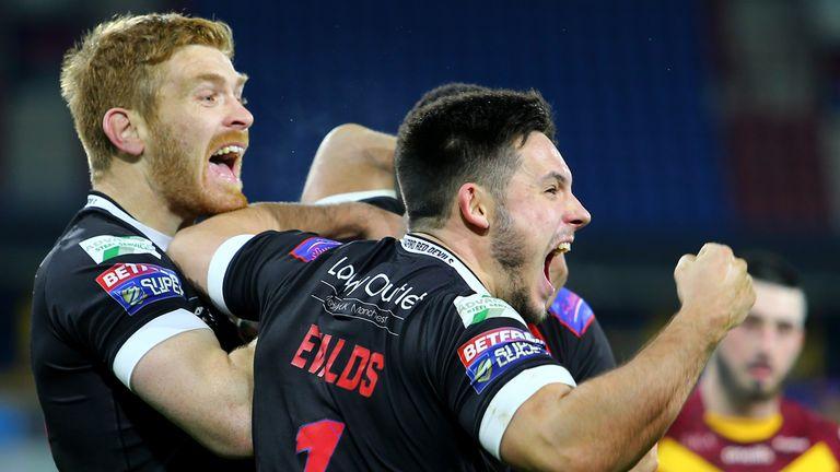 Niall Evalds celebrates the win over Huddersfield at the John Smith's Stadium