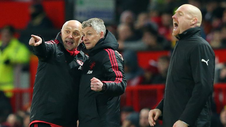 United assistant manager Mike Phelan (left) is a key figure at the club