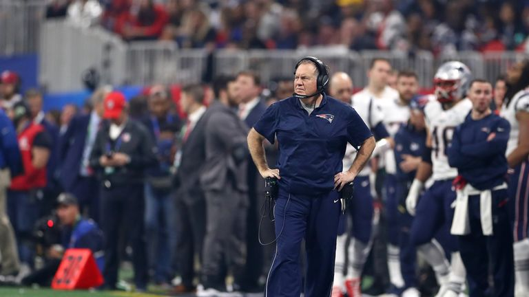 Belichick saw his side dominant a powerful Rams offense and limit them to just three points