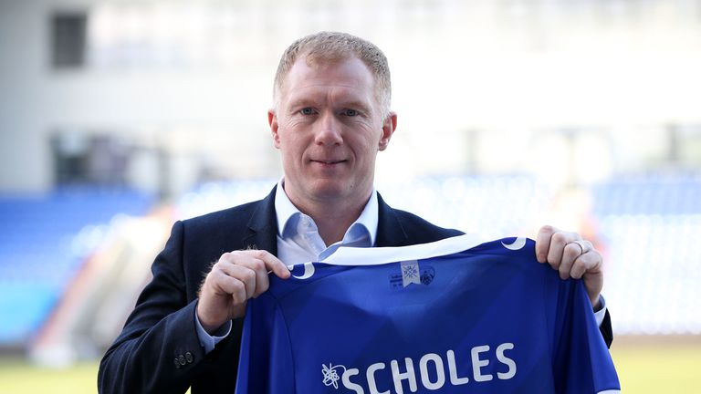Scholes has swapped the television studio for the dugout