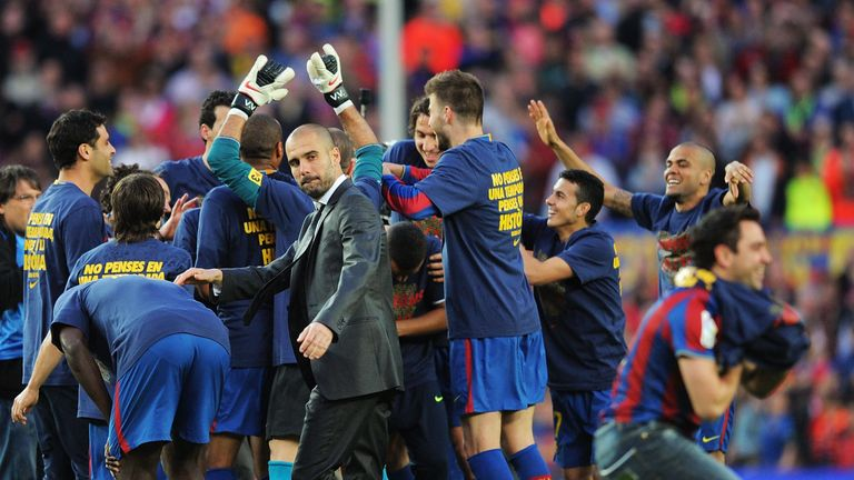 Pep Guardiola has been involved in three close title races with Barcelona