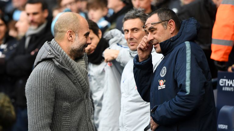 Pep Guardiola and Maurizio Sarri will lock horns once again at Wembley on Sunday