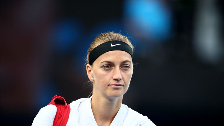 Petra Kvitova at the Australian Open
