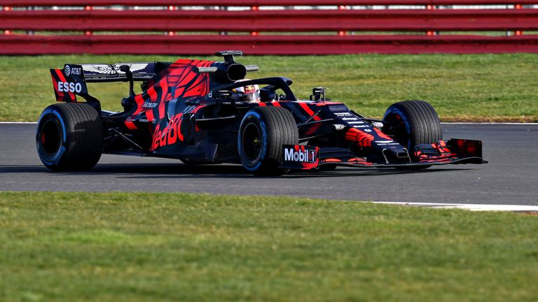 Shakedown run with RB15 put a smile on Verstappen's face