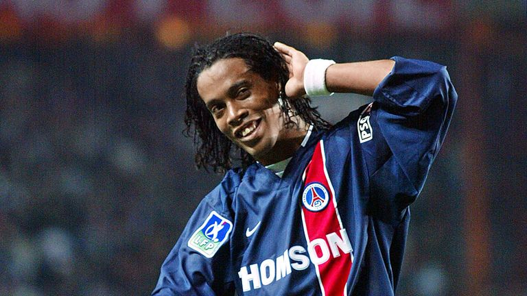 Ronaldinho was a target for Arsenal in 2001, before PSG snapped up the Brazilian playmaker