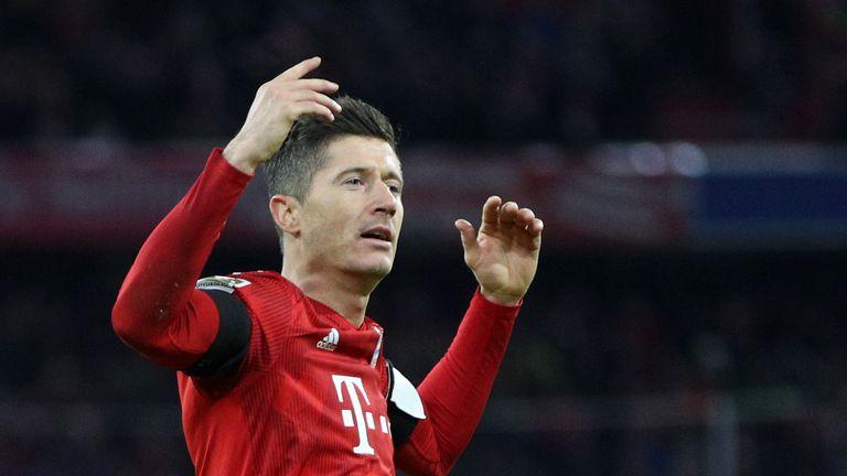 Robert Lewandowski was on target against Schalke as Bayern Munich closed the gap on Borussia Dortmund