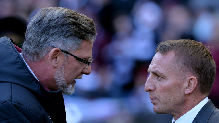"""Levein praised Rodgers' work in Scottish football, saying """"it will be sad to see him go in some ways"""""""