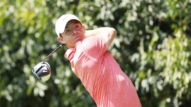 Rory McIlroy played alongside Johnson and Patrick Reed on Sunday